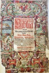Seltene Lutherbibel auktion